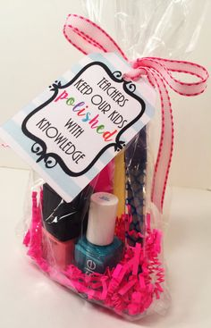 Teacher Appreciation Nail polish gift, Printable Teachers Keep Our Kids Polished with Knowledge Gift