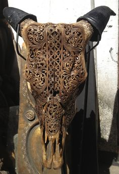 Beautiful Hand Carved Skull- I need to do this