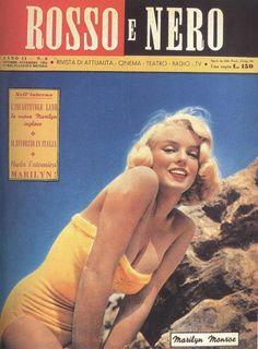 Marilyn in 1950 by Joseph Hepner on Rosso E Nero in October-November 1954.