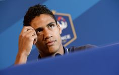 France's national football team defender Raphael Varane attends a press conference in Enghien-les-Bains on September 5, 2014, two days ahead of the team's friendly football match against Serbia in Belgrade.