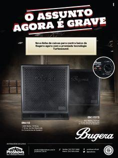 Anúncio para revista // Cliente: Bugera Amps (Proshows) // Agência: ACME Propaganda // Criação: Bruno Knop