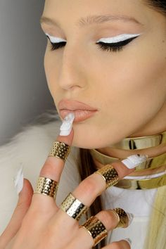 CND for The Blonds Fall/Winter 2015 - beauty fashion 2016