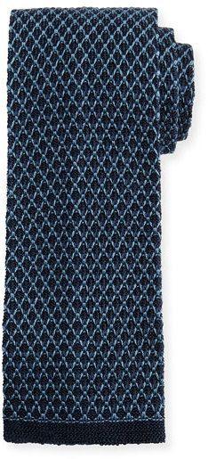 Tom Ford Gauze Knit Tie, Blue