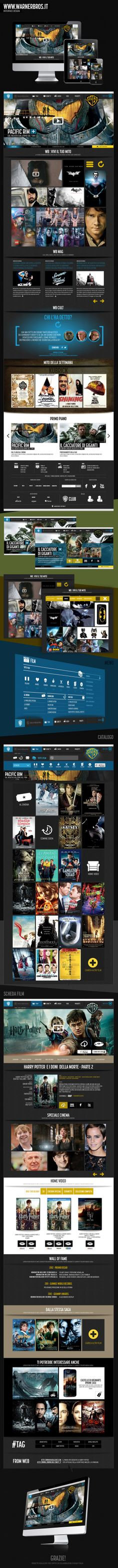 WARNER BROS ITALIA by Manuela Demontis, via Behance