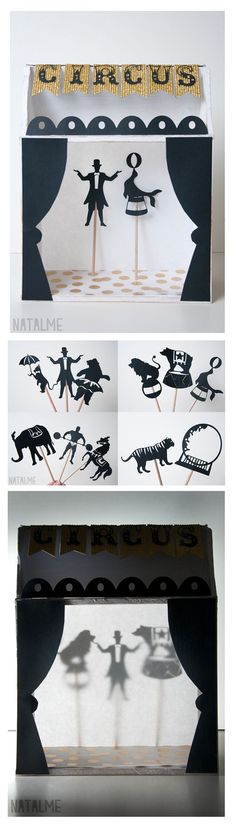 Shadow box puppet theater tutorial at www.natalme.com