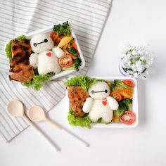 Sending some Baymax ❤️ this morning! How is your weekend looking? I'm working today ! So sharing a happier latergram posting of this impromptu bento workshop that I did for @chocolatemuimui. We met up again and instead of a makan session, she requested to make bento. So I guided her to make this super easy and cute Baymax bento! Only took us 30mins! Can you tell who made which one? Heh tap to find out!