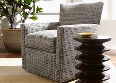 family room turner swivel chair in mae seaglass