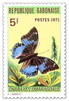 On May 26 1971 Gabon issued a set of four stamps featuring butterflies and moths. Africa Art, West Africa, Bug Art, Going Postal, Small Art, Fauna, Stamp Collecting, Postage Stamps, Wildlife