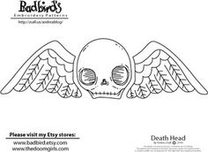 Death Head Embroidery Pattern by badbird, via Flickr