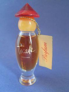 Tocade Rochas Pure Perfume 1/8 oz Original Formula Vintage 1980 's Mini #Rochas
