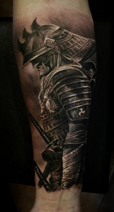 - Helmet Tattoo - Ten Facts You Never Knew About Samurai Tattoo Forearm Samurai Maske Tattoo, Samurai Tattoo Sleeve, Samurai Warrior Tattoo, Warrior Tattoos, Japanese Warrior Tattoo, Tattoo P, Demon Tattoo, Norse Tattoo, Viking Tattoos