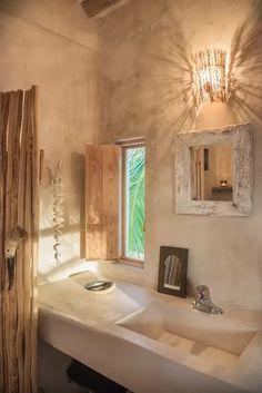 The Holbox island Casa Impala has internet access and a balcony. TripAdvisor Holbox, The Holbox island Casa Impala has internet access and a balcony. Luxury Interior Design, Interior Architecture, Bathroom Island, Tadelakt, Rustic Bathrooms, Luxury Bathrooms, Dream Bathrooms, World Of Interiors, Amazing Bathrooms