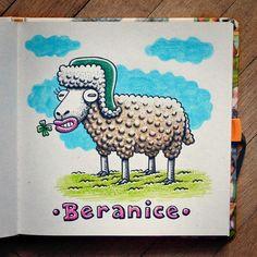 Beranice  #brushpen #pentel #pentelbrushpen #crayon #copic #copicmarkers #paper #illustration #traditionalart #comics #cartoon #sketch #sketches #sketchbook #animal #sheep #hat #czech #macomix Pentel Brush Pen, Paper Illustration, Copic, Traditional Art, Sheep, Sketches, Hat, Cartoon, Animal