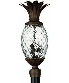 25 Inchh Plantation 3 Light Large Outdoor Post Lantern Copper Bronze