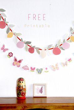 free printable buterfly banner 6 Free Printable Banner, Printable Paper, Printable Butterfly, Printable Birthday Banner, Printable Templates, Diy Paper, Paper Crafts, Diy Crafts, Party Printables