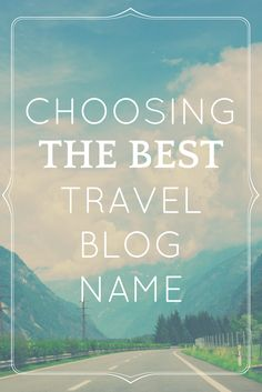 Choosing a name for a brand new travel blog is hard! Here's how to pick a travel blog name you won't regret. No, really! You'll find reasons why you should avoid a few types of names and plenty of travel blogging name inspo to kickstart your brain. Blog Names, Things To Come, Good Things, New Travel, Blogging, Brain, Feelings, The Brain