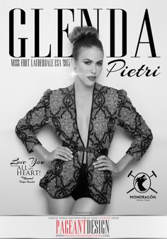 GLENDA PIETRI - MISS FT. LAUDERDALE USA 2015 | B&W Pageant Program Book Ad Design | We offer graphic design solutions for all your pageantry needs! | Pageant Ads / Pageant Program Books / Contestant, Coach & Director Websites / Pageant Posters, Flyers & Promo Items + more! | For samples and prices, check out: http://www.pageantdesignsolutions.com