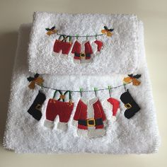 Christmas towel and facecloth