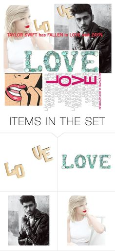 """""""Taylor swift loves ZAYN"""" by loved9999 ❤ liked on Polyvore featuring art"""