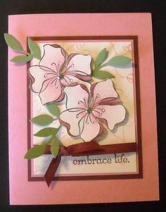 Embrace Life stamp set - Stamping Up! Asian Cards, Retirement Cards, Paper Cards, Stamping Up, Flower Cards, Greeting Cards Handmade, Homemade Cards, Stampin Up Cards, Birthday Cards