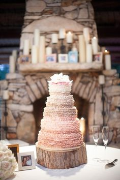 Pink Ombre Cake | photography by http://www.kellyhornberger.com/