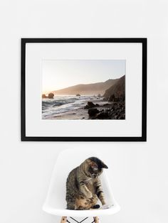 Mists in Big Sur — Available as a Print or Framed in White or Black Wood. Comes in frames up to / Diy Art, Inspiration Art, Wall Art Quotes, Big Sur, New Print, Home Decor Wall Art, Black Wood, Cat Life, Decoration