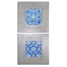 Check out the Uttermost 41522 Royal Ikat Floral Art - Set of 2