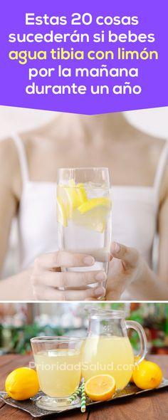 Estas 20 cosas ocurrirán en tu cuerpo si bebes agua tibia con limón en ayunas durante un año.