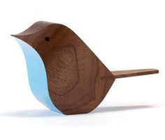 Bird by Jacob Pugh is an ornamental bird made from English Sycamore Bird Ornaments, Wooden Ornaments, Orchard Toys, Blue Lounge, Wood Bird, Wooden Wall Art, Wood Toys, Wood Design, Wood Turning