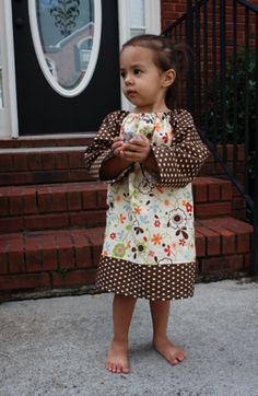Cute little peasant dress with tutorial.  This girl is soo good!
