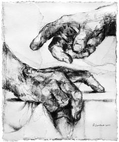 # Alison Lambert (Two Hands, charcoal and pastel on paper)