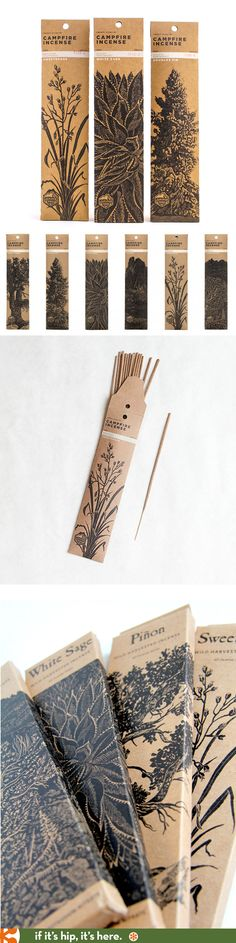 Love the packaging for Juniper Ridge brand's Campfire Incenses. Love the packaging for Juniper Ridge brand's Campfire Incenses. Incense Packaging, Cool Packaging, Paper Packaging, Brand Packaging, Tea Packaging, Coperate Design, Label Design, Branding Design, Package Design