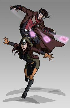 X-men Costume Redesign: Rogue and Gambit by ~Hiroki8 on deviantART
