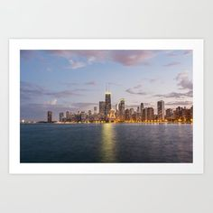Chicago Skyline from North Avenue Beach Art Print by