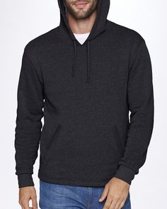The heathered look of this Next Level Unisex PCH Pullover Hoodie is sure to please, and the cotton/polyester blend is sure to feel awesome. It also has a tear-away label, so you don't have to deal with an annoying tag.