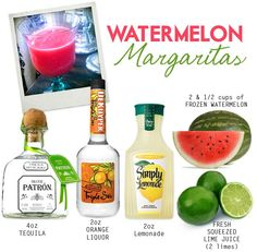 TO MAKE: Cut watermelon into 1 inch cubes and freeze for a couple hours. Then, combine the above ingredien
