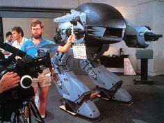The ED 209 during the film from #Robocop