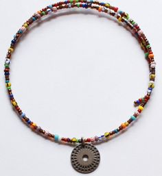 Vintage Silpada Signed Sterling Silver & Colorful Multi Stone Beaded Choker Necklace by paststore on Etsy