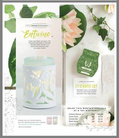 Scentsy April warmer and scent of the month