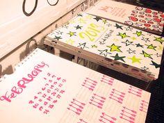 linda-harriett-2013-calendar via The Sweetest Occasion