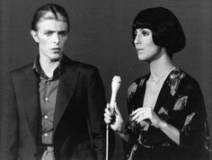 Artists David Bowie and Cher on the solo variety television program Cher. 14/10/1975