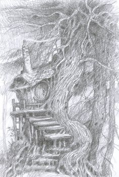 Mythwood - The Art of Larry MacDougall: pencil