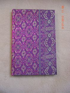 Blank journal made with silk scarf. Made by Roxanne