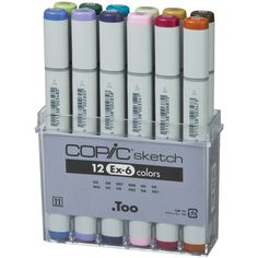 Copic Set EX-6 Sketch Marker (Pack of 12): Amazon.co.uk: Office Products