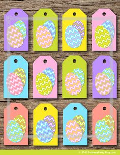 INSTANT DOWNLOAD Printable Easter Gift Tags DIY by subwayParty, $3.50