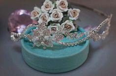 SALE Bridal Vine Headband Band Headpiece Bride by EleganceByKate