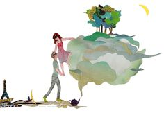 """Inspirée par la chanson """"l'échappée Belle"""" d'Auren, illustration : élOïse Salina."""