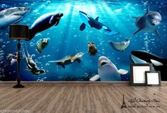 Underwater World 2 Wall Paper Wall Print Decal Wall Deco Indoor wall Mural Home