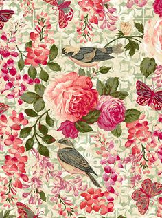 Natural Beauty - Songbird's Rose Garden -Quilt Fabrics from www.eQuilter.com