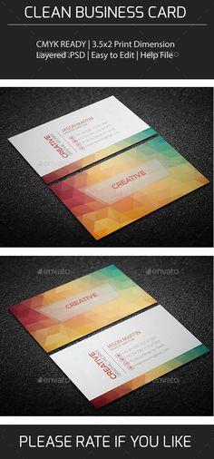 Clean Business Card Tempalte #design Download: http://graphicriver.net/item/clean-business-card-v0151/9628677?ref=ksioks